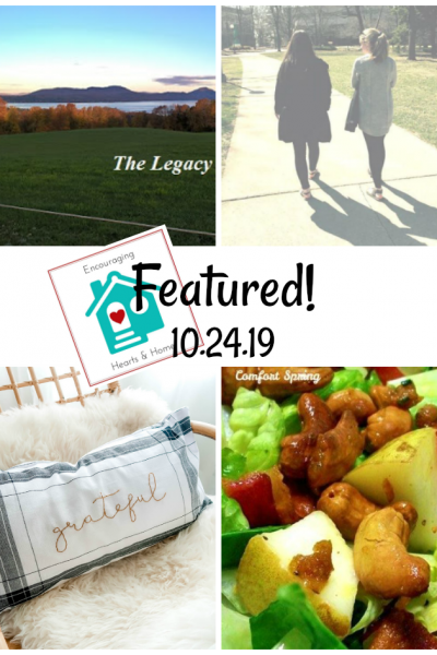 Encouraging Hearts & Home blog hop featured 10.24.19 at ApronStringsOtherThings.com