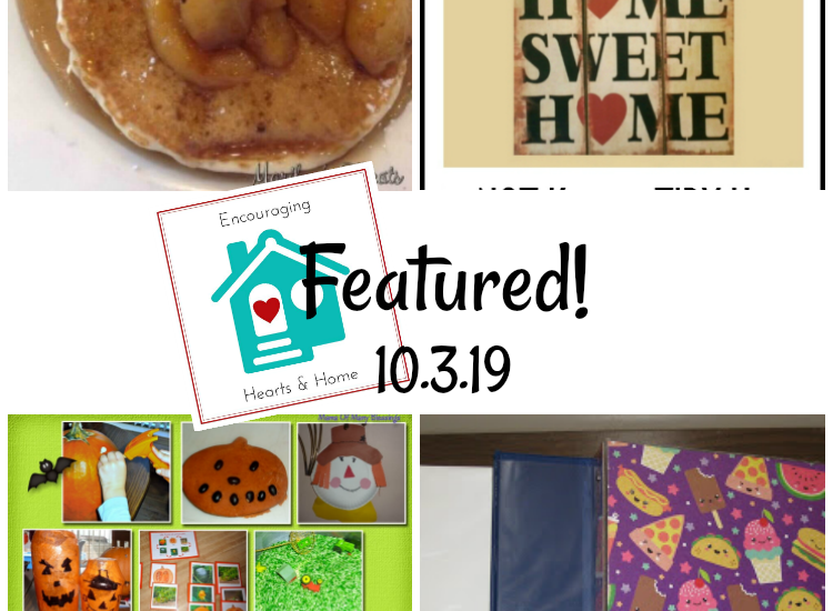 Encouraging Hearts & Home blog hop featured 10.3.19 at ApronStringsOtherThings.com