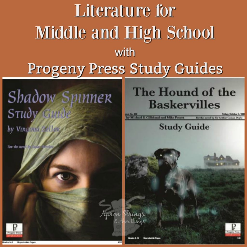 Literature for Middle and High School with Progeny Press Study Guides shadow spinner hound of baskervilles at ApronStringsOtherThings.com