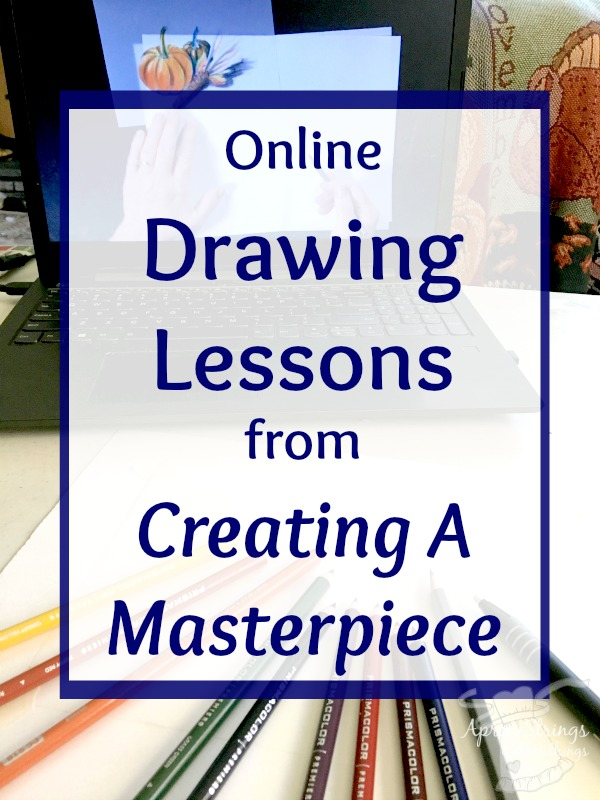 Online Drawing Lessons from Creating A Masterpiece homeschool art curriculum at ApronStringsOtherThings.com