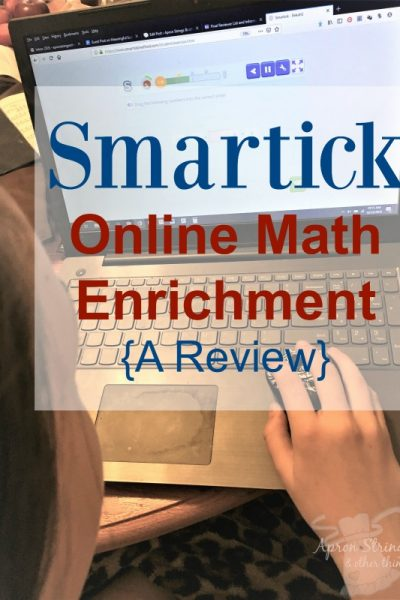 Smartick - Online Math Enrichment A Review at ApronStringsOtherThings.com