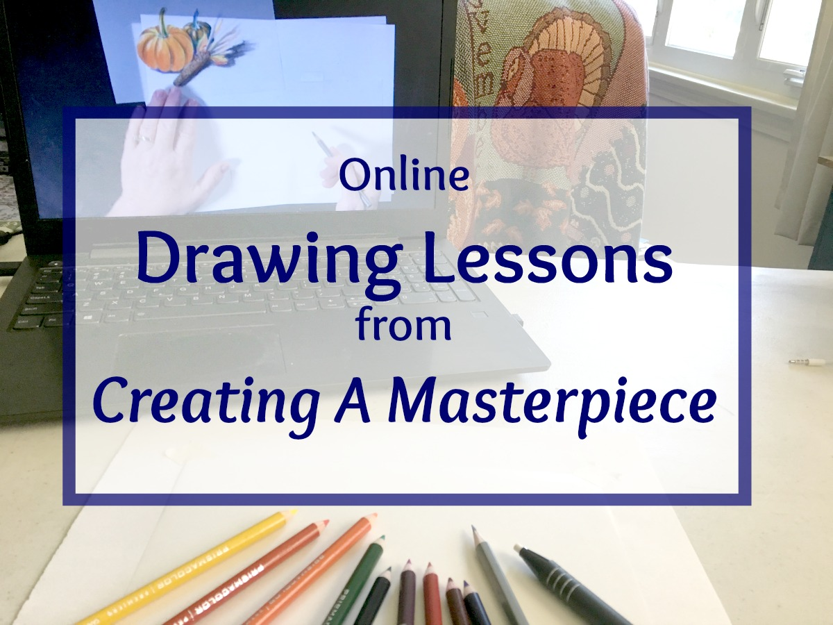 homeschool drawing art lessons creating a masterpiece at ApronStringsOtherThings.com