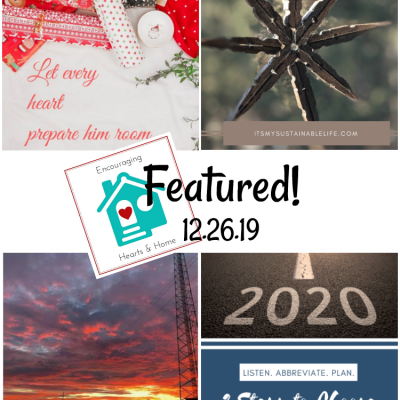 Encouraging Hearts & Home Blog Hop 12.26.19