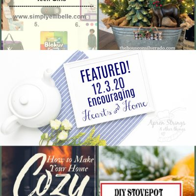 Encouraging Hearts & Home Blog Hop 12.3.20
