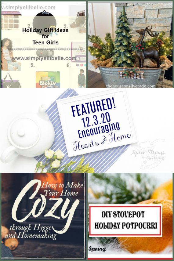 encouraging hearts home blog hop featured 12.3.20 at apronstringsotherthings.com