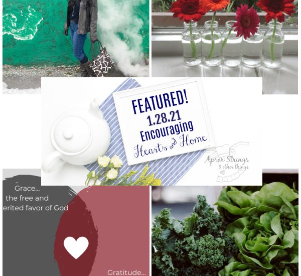 Encouraging Hearts Home blog hop featured 1.28.21 at apronstringsotherthings.com