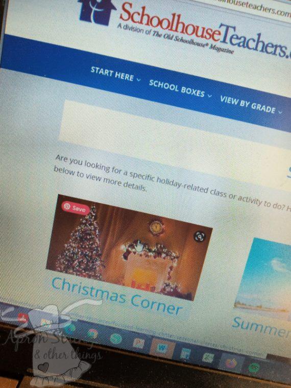 schoolhouseteachers christmas corner at apronstringsotherthings.com