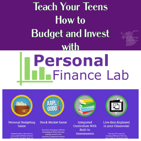 personal finance lab budgeting game stock market homeschool review at apronstringsotherthings.com