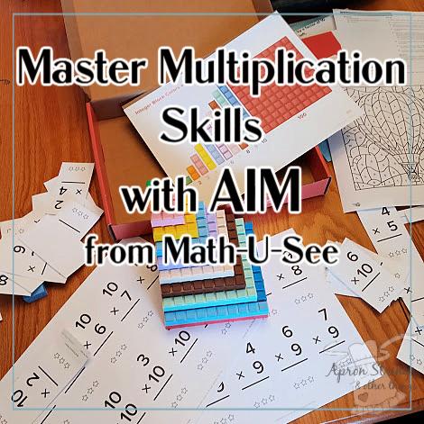 AIM math u see review master multiplication at apronstringsotherthings.com