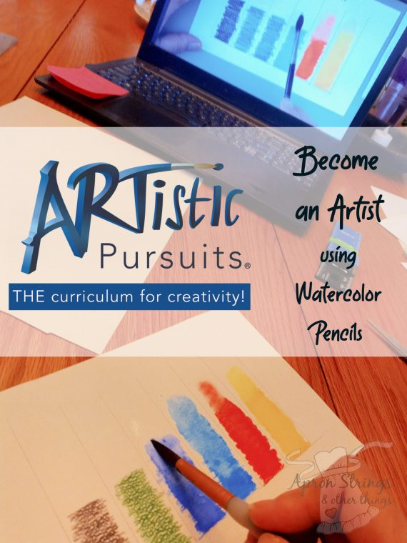 artistic pursuits core 2 review watercolor pencils at apronstringsotherthings.com
