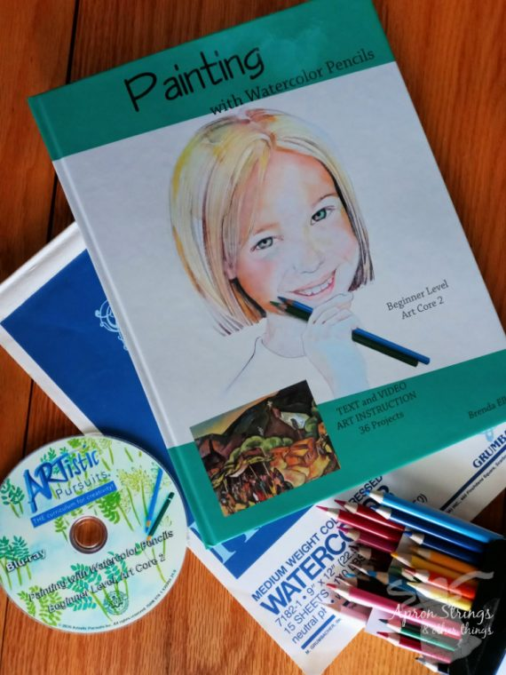 artistic pursuits core 2 watercolor pencils online video lessons at apronstringsotherthings.com