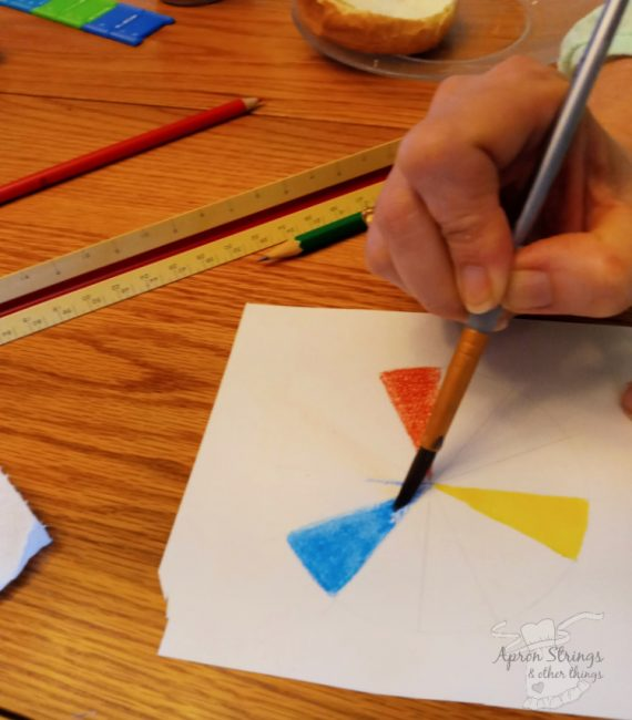 artistic pursuits watercolor pencils color wheel at apronstringsotherthings.com