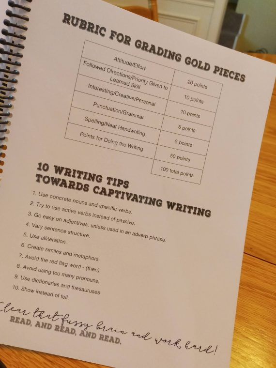 creative word studio rubric writing tips at apronstringsotherthings.com