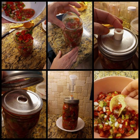 Lacto-Fermented Salsa collage Starter Kit Fermentools at apronstringsotherthings.com