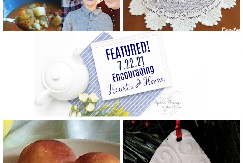 encouraging hearts home blog hop featured 7.22.21 at apronstringsotherthings.com