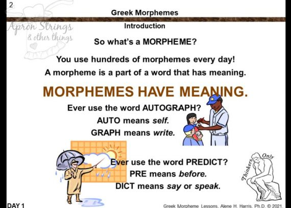 its not greek to me morphemes slideshow 1 at apronstringsotherthings.com