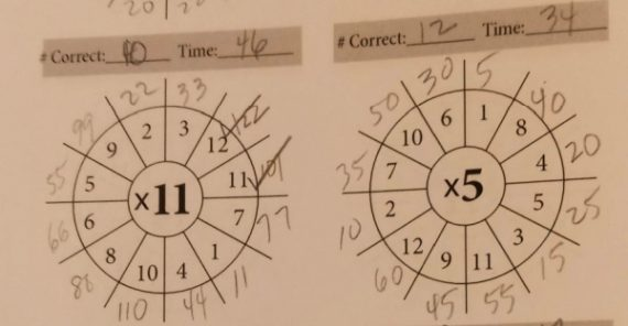 multiplication speed wheel drills math essentials at apronstringsotherthings.com