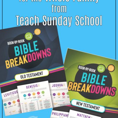 Bible Breakdowns from Teach Sunday School {a review}